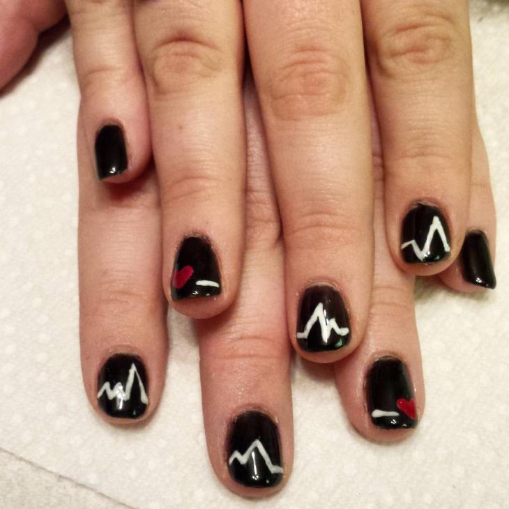 White Stamping Nail Art