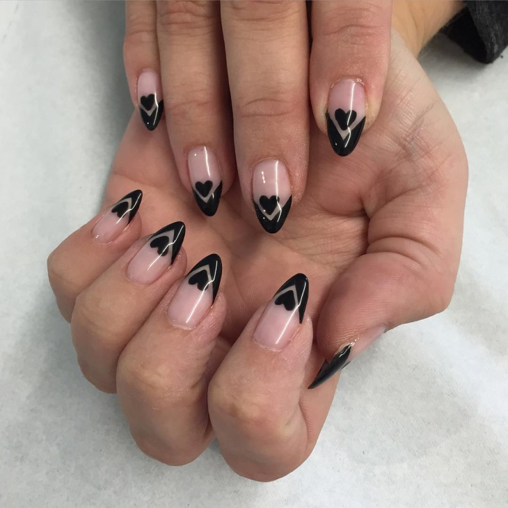 Gorgeous Heart Gel Nail Design