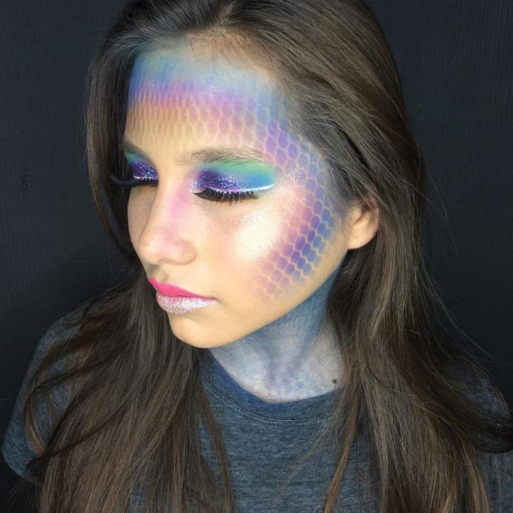 Stunning Mermaid Makeup Design