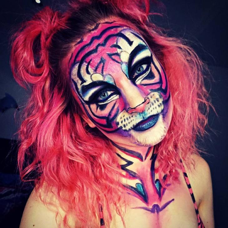 Tiger Makeup Design