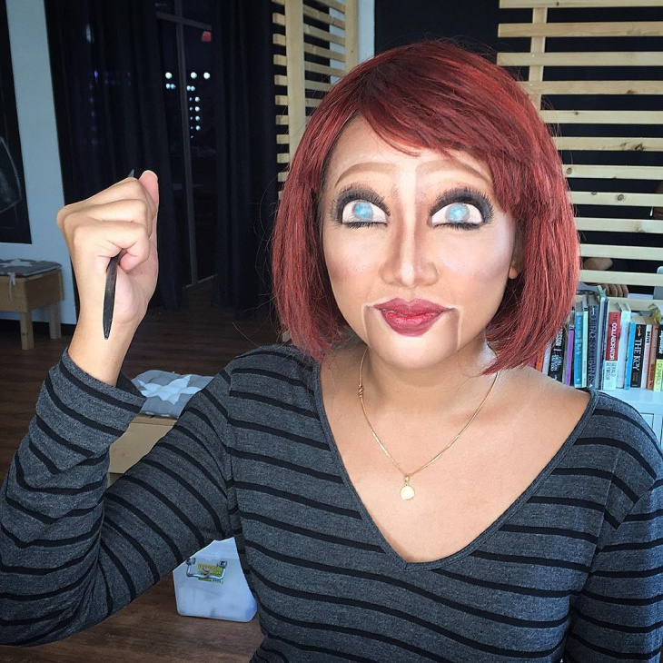 Funny Doll Makeup