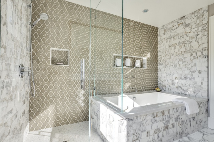 Mid Sized Transitional Designed Bathroom