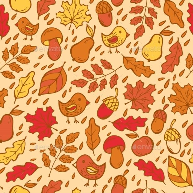 Autumn Doodle Pattern