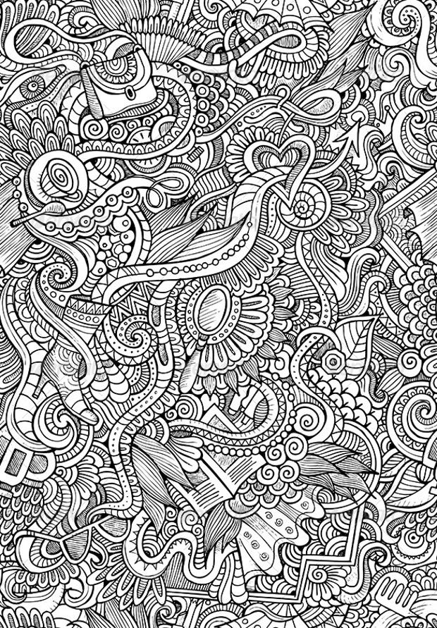 Doodle Seamless Fashion Pattern