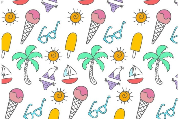 doodle beach time pattern