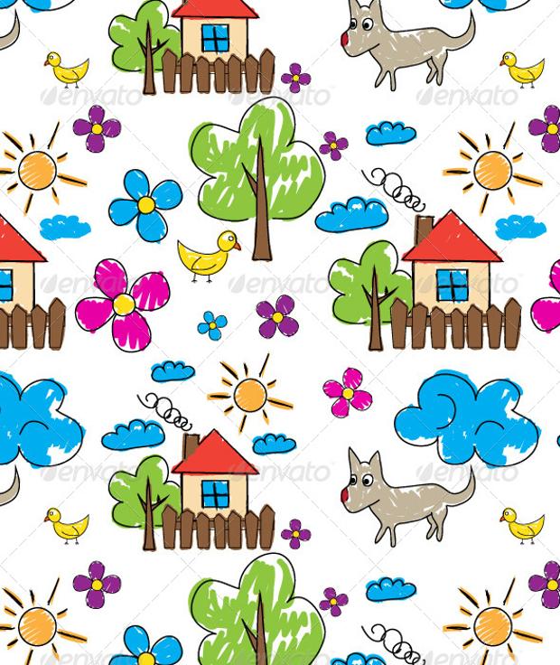 Nature Doodle Pattern