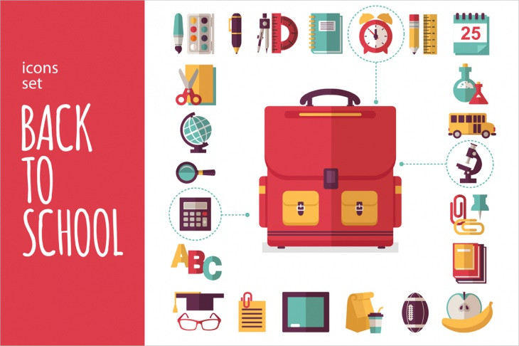 Back to School Icons Set