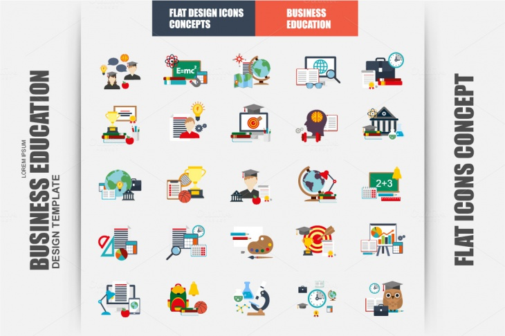 High-Resolution Flat Vector Icons