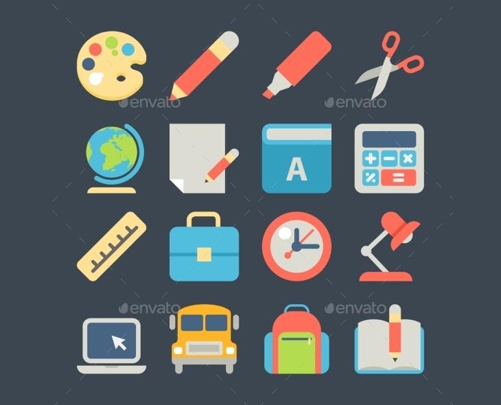 school vector web icons1