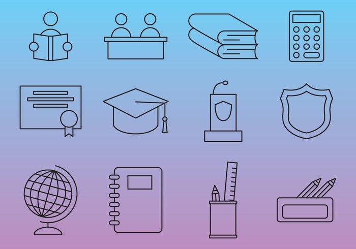 education hand drawn icons1