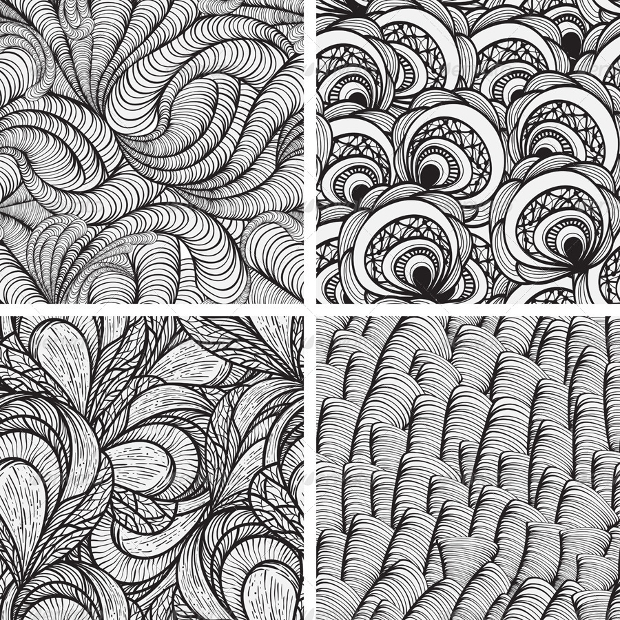 seamless monochrome pattern