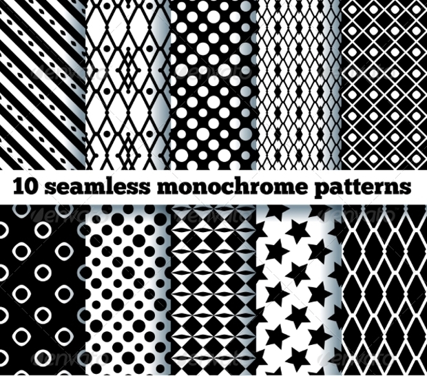 abstract monochrome pattern designs