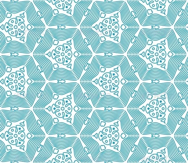 blue vintage style pattern