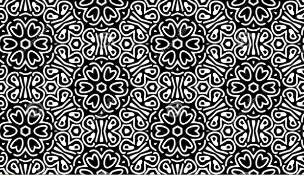 Monochrome Patterns with Flowers