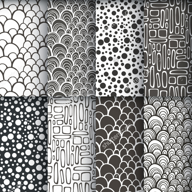 decorative doodle seamless pattern