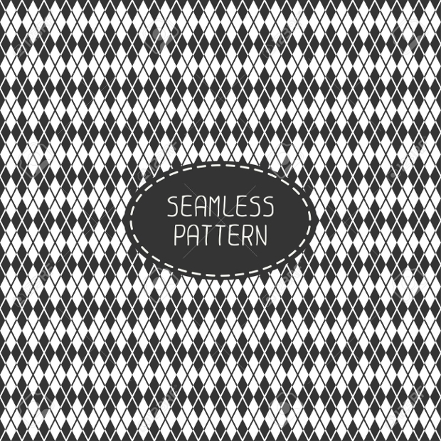 Monochrome Hipster Line Seamless Pattern