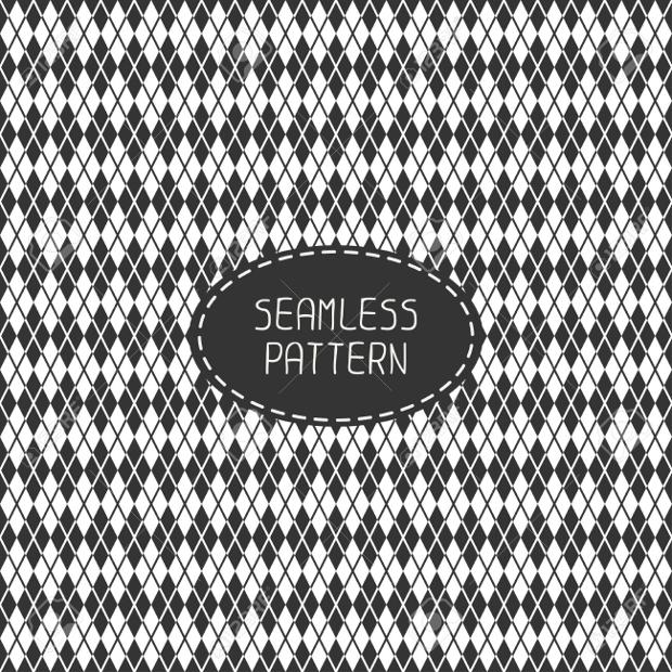 monochrome hipster line seamless pattern