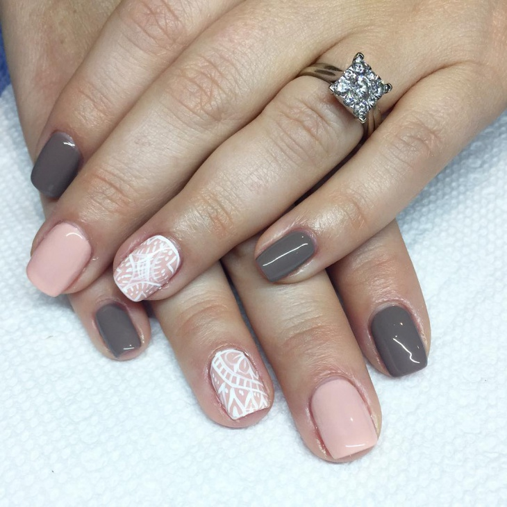 Easy Two Tone Nail Design - 21+ Two Tone Nail Art Designs, Ideas Design Trends - Premium PSD