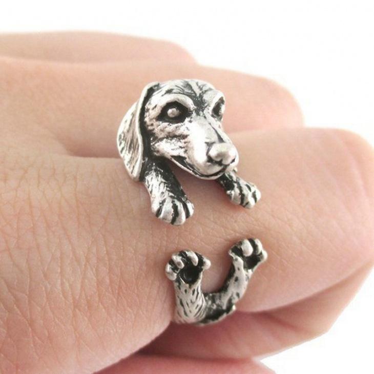 cute animal wrap ring
