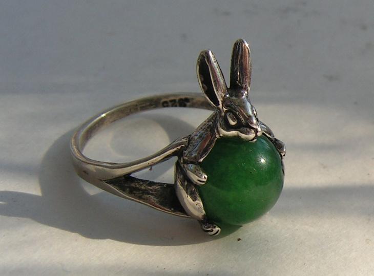 cute rabbit animal ring