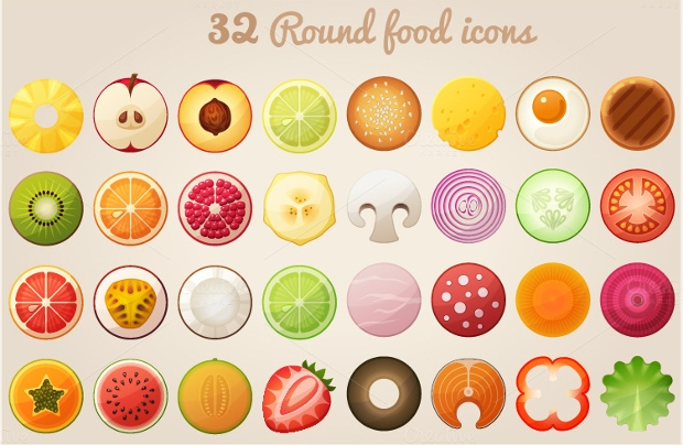 Round Food Icons