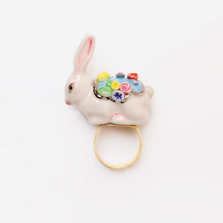 handmade rabbit ring