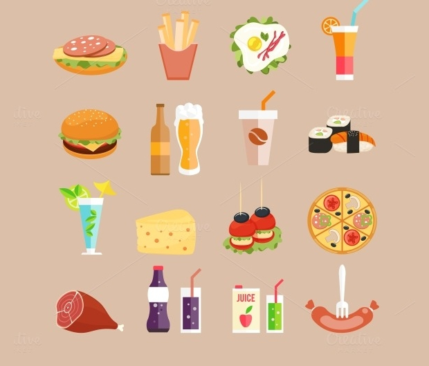 Design Trends Premium Psd Vector Downloads: 20+ Food Icons - PSD, Vector EPS Format Download