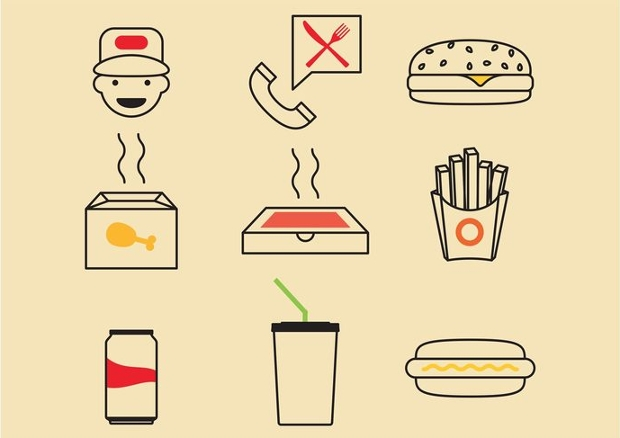 Spicy Fast Food Icons