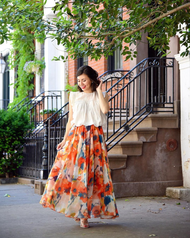 Custom Floral Skirt Design