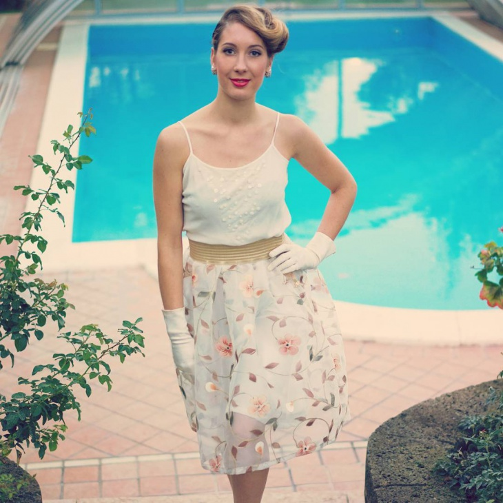 summer floral print skirt design