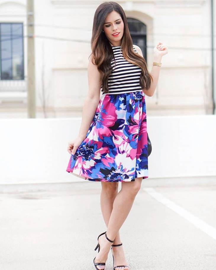 Mixed Floral Skirt Design