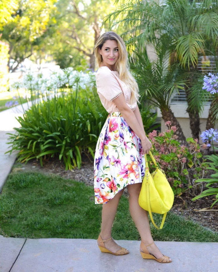 Short Summer Floral Skirt