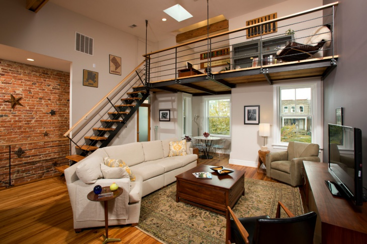 Exceptional Loft Living Ideas Part - 4: Living Room Loft Stairs