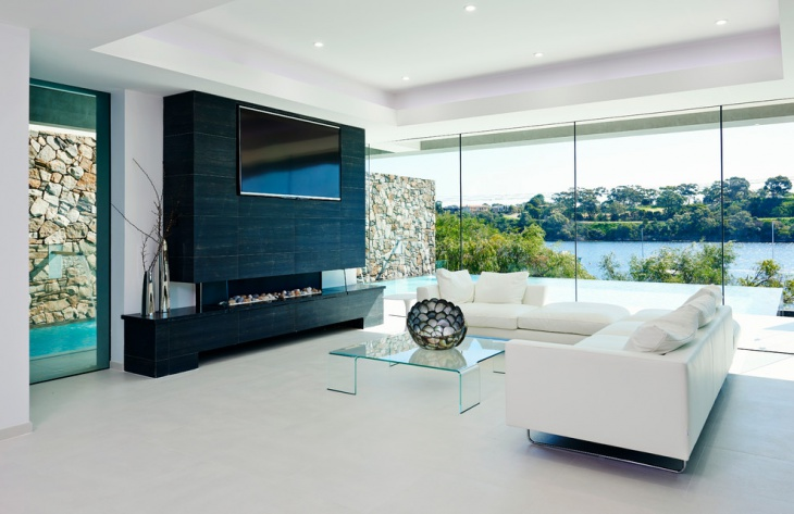outer view loft living room interior design