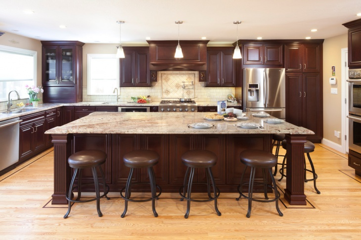 Tall Brown Kitchen Cabinets