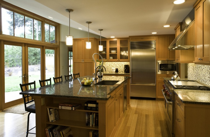 Light Wood Brown Kitchen Idea
