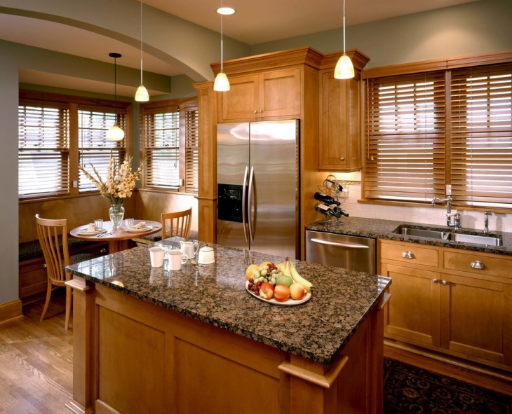 Traditional Brown Kitchen idea