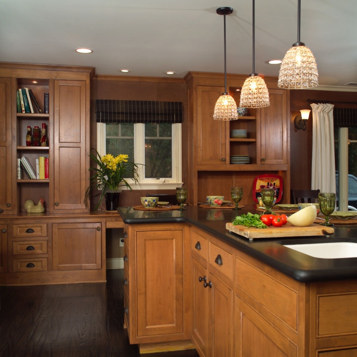 Light Oak Kitchen Cabinets: 20+ Brown Kitchen Cabinet Designs, Ideas
