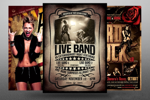 Photoshop Band Flyer Template