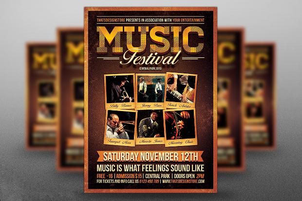 Music Festival Band Flyer