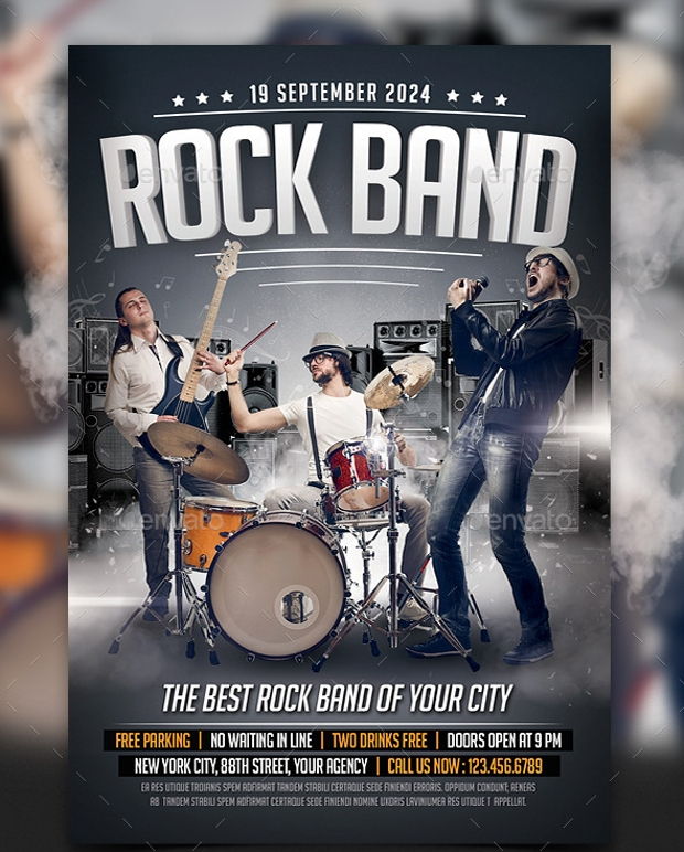 19 Band Flyer Templates Printable Psd Ai Vector Eps Format