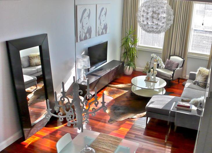 modern compact living room