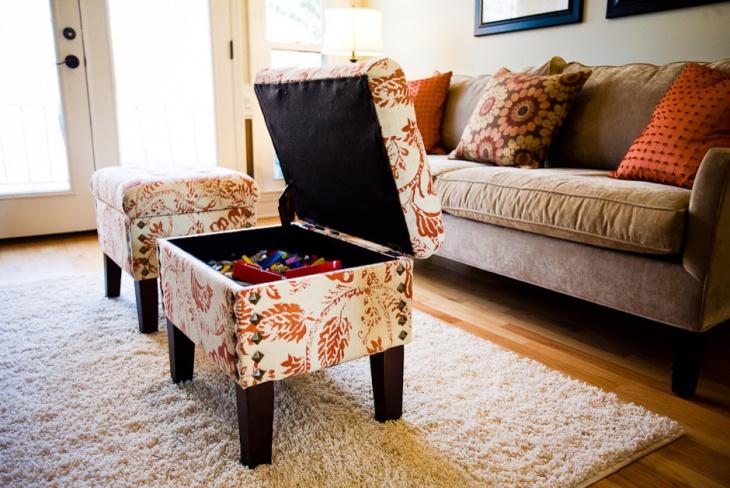living room compact storage idea