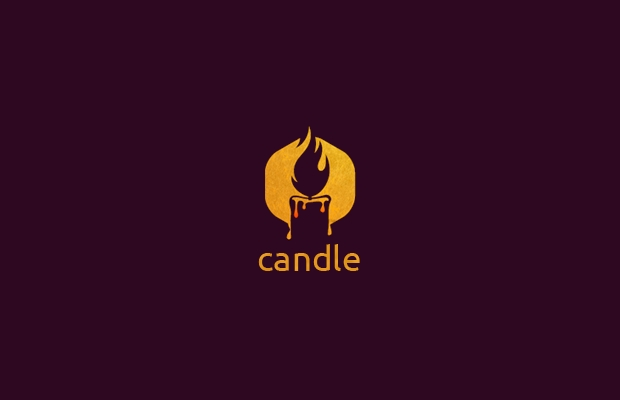 inspirational candle logo design