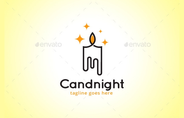 bright candle light logo