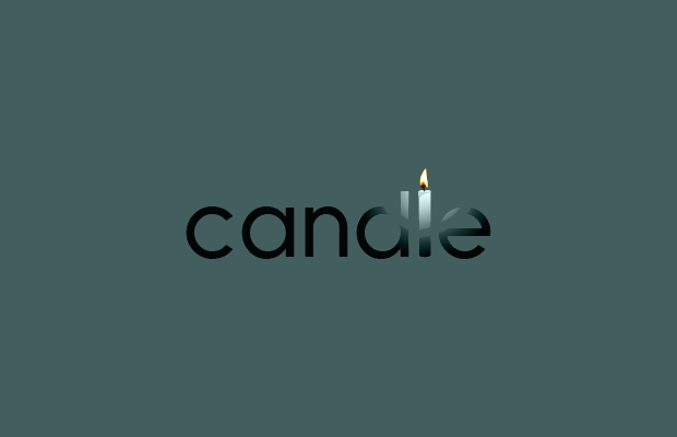 candle light logo idea