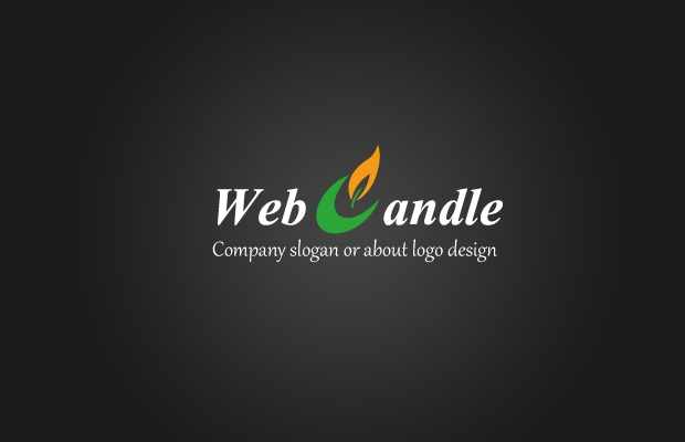 web candle logo design