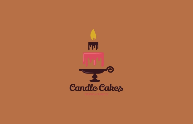 candle cakes logo design
