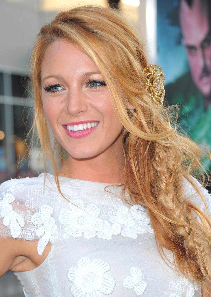 Blake Lively Side Fishtail Braid