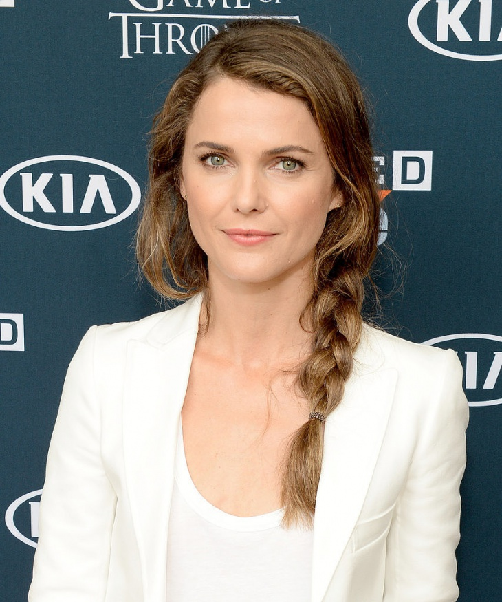 Keri Russell Messy Braided Hairstyle